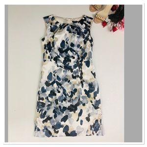 Ann Taylor Floral Print career dress petite 2P
